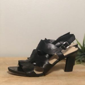 Via Spiga Strappy Leather Heeled Sandal